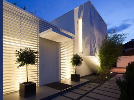Fachadas De Casas Modernas Minimalistas Perez Pando - Fachadas-minimalistas